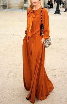 Burnt orange.