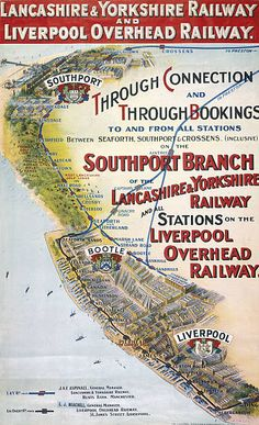 Poster produced for Lancashire and Yorkshire Railway (LYR) and Liverpool Overhead Railway (LOR Framed Print Framed, Poster, Canvas Prints, Puzzles, Photo Gifts and Wall Art Liverpool Docks, Liverpool History, Liverpool Town, Liverpool Poster, Liverpool England, Train Posters, Railway Posters, Posters Uk, Trains
