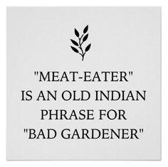 """Old Indian Phrase for """"Bad Gardner"""" lol! #MyVeganJournal"""