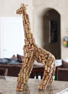 pyssel vinkorkar inspiration tips ide giraff vin pyssel diy
