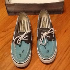 Anchor sperrys If you love anchors these shoes are for you! Anchor sperrys worn one time Sperry Top-Sider Shoes