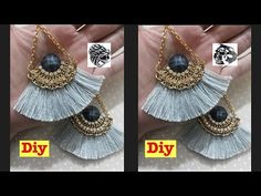 YouTube Diy Tassel Earrings, Silk Thread Earrings, Thread Jewellery, Diy Necklace, How To Make Necklaces, How To Make Earrings, Necklace Tutorial, Tassels, Studs