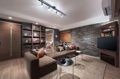 取り入れる家具によって、ブルックリンスタイルは都会的にもなります。テーブルを黒のスタイリッシュなものにすると、一味違った大人ブルックリンスタイルに。