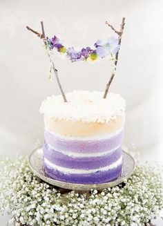 You can never go wrong with an ombre cake.