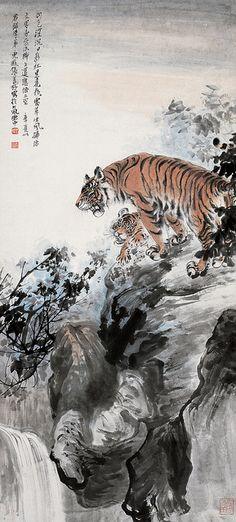 Painted by Zhang Shanzi (張善孖, 1882-1940) |