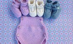 gorritos, ranitas, braguitas de bebé, calcetines, patucos, tutoriales en video e instrucciones, knitting baby booties, socks, baby romper