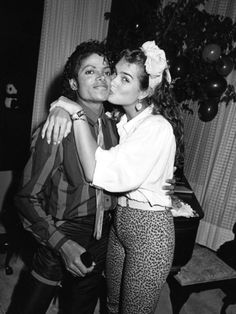 Michael Jackson with Brooke Shields, 1984