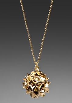 House of Harlow Crater Locket Necklace, gold