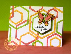 hexagon background die | wanted to show the fun movement these cards have, so I did a quick ...