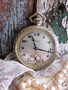 Antique Pocket Watch Gruen 1920 by by AVintageObsession on Etsy, $395.00