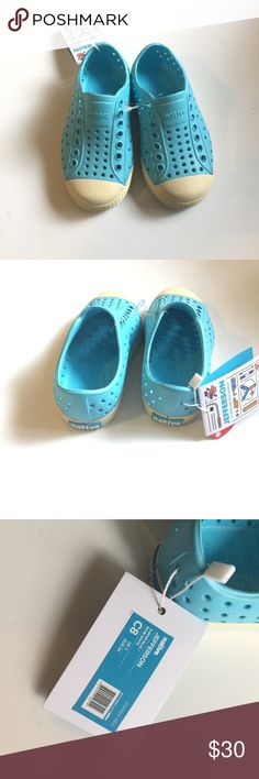 New native sandals Blue and off white Jefferson Natives sandals unisex Native Shoes Sandals & Flip Flops