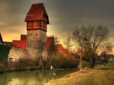#Dinkelsbuhl, #Middle Franconia, stadtmauer | HDR-Photos - HDR Fotos / in der Stadt / Panorama / Turm in ...