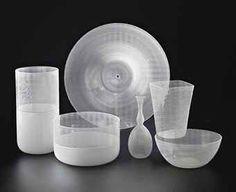 "TAPIO WIRKKALA - Art glass objects ""Filigrana di Tapio"" designed in and 1972 for Venini, Murano, Italy. - A Finnish designer. Murano Glass, Venetian Glass, Glass Store, Retro Design, Design Art, Interior Design, Importance Of Art, Grands Vases, Glass Molds"
