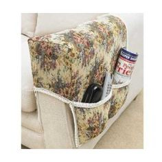 Floral Tapestry Armrest Organiser   Remote Control Holder: Amazon.co.uk:  Kitchen