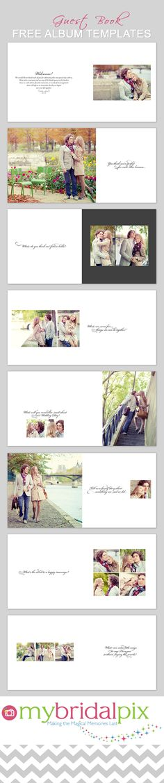 """Wedding guest book idea - #guestbook #wedding - Create a Guest Book using our free """"Classic"""" guest book template at My Bridal Pix.  www.mybridalpix.com"""