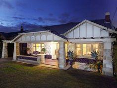 Dreamiest Dream Home - Gentlemans Bungalow (Glenelg East, South Australia) Bungalow Exterior, Bungalow Homes, Bungalow Extensions, Exterior Cladding, Australian Homes, South Australia, House Front, Exterior Colors, My Dream Home