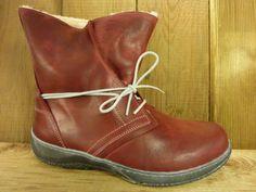 Double You Schuhe by Dessy Warme Stiefel rot Wollwarmfutter auch für Einlagen geignet