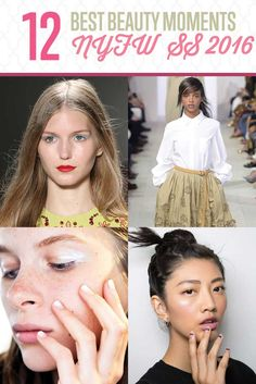 NYFW Best Beauty Moments | 12 Fashion Trends to Wear This  2015-2016 by Makeup Tutorials at http://makeuptutorials.com/new-york-fashion-week-makeup-tutorials/