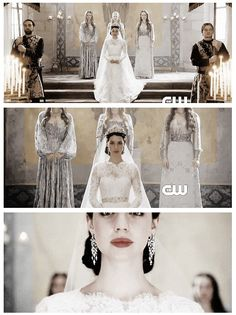 Mary's Wedding Day #reign #weddinggown #braidesmaidgowns