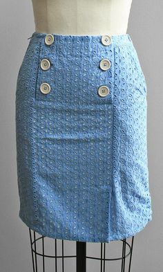 Knitted Dove Sailor Button Skirt.  http://www.shopsubstance.com/