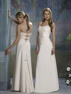 Glamorous Beading Sweetheart Strapless Satin Floor Length Wedding Dress for Brides