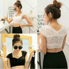 0c2c5adca1f Padded Bralette Cum Blouse Old Padded Bralette, Lace Crop Tops, Shenzhen,  Palazzo,