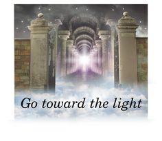 """Go Toward the Light"" by linda-susan-felix-porter ❤ liked on Polyvore"