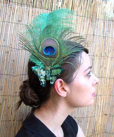 okay, so I like peacock feather fascinators