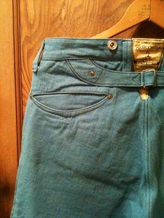 Turn of Century Smile Pocket Denim Pants SAX