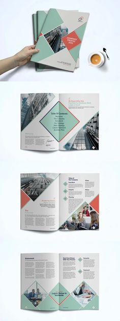 Company Profile Brochure Template InDesign INDD Titan Company, Company Profile Design Templates, Corporate Profile, Book Layout, Map Design, Photoshop Design, Board Ideas, Brochure Template, Graphics