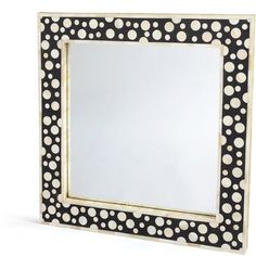 Found it at Wayfair - Square Wood Bubble Mirror