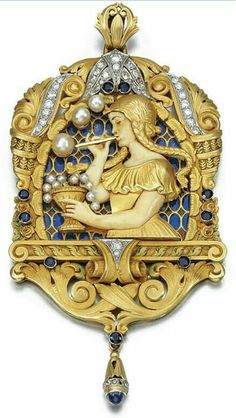Art nouveau pendant art nouveau & art deco in 2019 антикварн Bijoux Art Nouveau, Art Nouveau Jewelry, Jewelry Art, Antique Jewelry, Vintage Jewelry, Fine Jewelry, Jewelry Design, 1920s Jewelry, Gold Jewelry