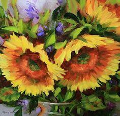 Brushfire Sunflowers by Texas Flower Artist Nancy Medina -- Nancy Medina