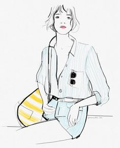 How to be a thoughtful tourist (An illustration I made for Marc O'Polo) / Garance Doré