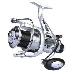 Goture 11bb carrete de arrastre doble de metal largo casting spinning pesca carrete rueda de pesca de la carpa 5.2: 1