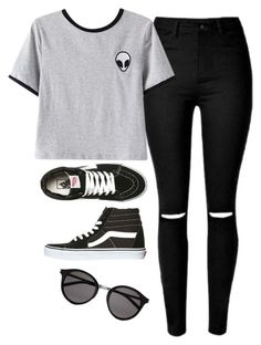 """"" by lollypopz951 on Polyvore featuring Chicnova Fashion, Vans and Yves Saint Laurent"