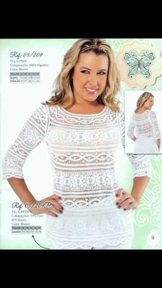 Calados Bruges Lace, Dress Suits, Embroidered Blouse, Shirt Style, Beautiful Dresses, White Dress, Textiles, Sewing, Crochet