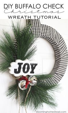 Adorn your home in style with these DIY Christmas wreaths! Here's how to make holiday wreaths that will give your guests the prettiest welcome when they arrive for your Christmas party. All Things Christmas, Simple Christmas, Christmas Holidays, Xmas, Christmas Ideas, Merry Christmas, Christmas Inspiration, Holiday Wreaths, Holiday Crafts