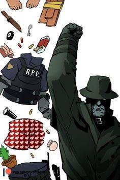 Leon s kennedy Tyrant Resident Evil, Resident Evil Franchise, Resident Evil Game, Funny Gaming Memes, Funny Games, Evil Meme, Leon S Kennedy, Evil Art, The Evil Within