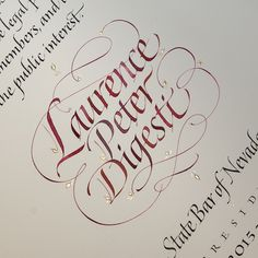 John Stevens. Calligraphic Honor on Behance
