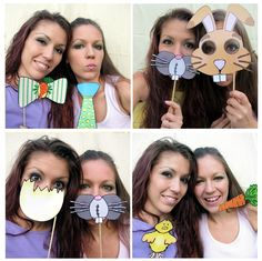 Easter photo booth props... these are some of my favorites