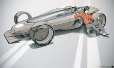 Car Design, Mike Hill on ArtStation at… Concept Art World, Concept Cars, Cyberpunk, Mike Hill, Design Autos, Sketching Techniques, Berlin, Car Sketch, Cool Sketches