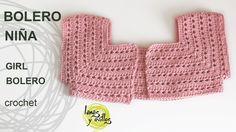 Tutorial Bolero Fácil Niña Crochet o Ganchillo. Tutorial de cómo hacer un bolero para niña a crochet paso a paso en español. Encuentra este patrón y muchos más en http://www.lanasyovillos.com