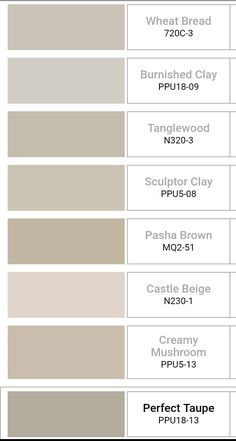 My Pano Behr Neutral Paint Colors Towel colors for beige bathrooms Bathroom color schemes Bathroom . Taupe Paint Colors, Farmhouse Paint Colors, Beige Color, Colour, Sand Color Paint, Wall Colors, Interior Paint Colors For Living Room, Paint Colors For Home, Neutral Living Room Paint