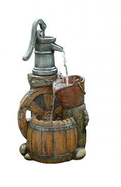 a91b75f417 Old Fashion Pump Barrel Fountain Alpine https   www.amazon.com