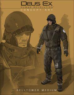 Belltower Associates medium soldier from Deus Ex: Human Revolution
