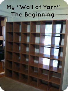 "My ""Wall of Yarn"" - The Beginning"