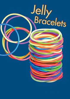 Jelly Bracelets OMG I used to have so many and would wear them all at the same time! You KNOW you grew up in the if you remember this! 90s Childhood, My Childhood Memories, Sweet Memories, Jelly Bracelets, Rubber Bracelets, Bangles, In Loco, School Memories, My Memory