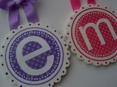Scallop Edge Round Wood Nursery Wall Letters Just by BabyRoosRoom
