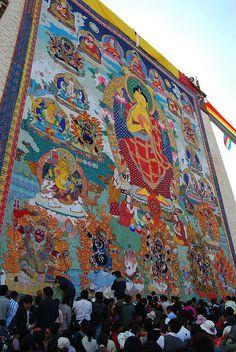 Shoton Festival, Sera Monastery, Tibet